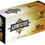 Armscor Ammo 380ACP 95Gr Full Metal Jacket 50 1000 FAC380-2N