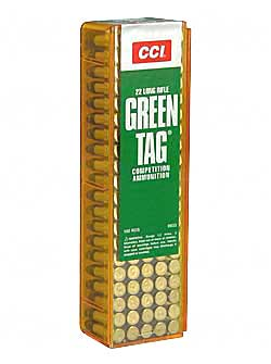 CCI/Speer Competition Green Tag 22LR 40Gr Lead Round Nose 100 5000 33