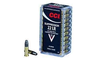 CCI/Speer Suppressor 22LR 45Gr Hollow Point 50 5000 957