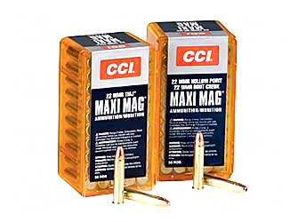 CCI/Speer Maxi-Mag 22WMR 30Gr Jacketed Hollow Point +V 50 2000 59