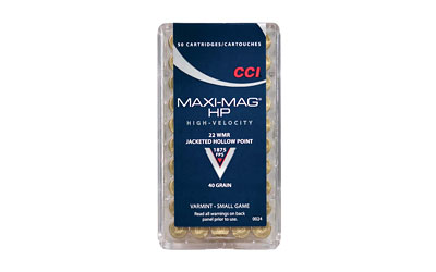 CCI/Speer Maxi-Mag 22WMR 40Gr Jacketed Hollow Point 50 2000 24