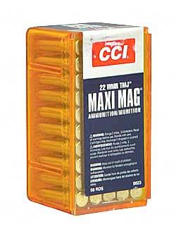 CCI/Speer Maxi-Mag 22WMR 40Gr Total Metal Jacket 50 2000 23