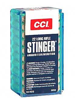 CCI/Speer Stinger 22LR 32Gr Hollow Point 50 5000 50