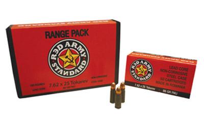Century Arms Red Army Standard 7.62×25 Tokarev 86Gr Full Metal Jacket 50 900 AM2001B