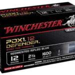 Winchester PDX1 Defender 12Ga 2.75″ 1oz Slug Segmenting Slug 10 100 S12PDX1S