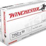 Winchester USA 762NATO 147Gr Full Metal Jacket 20 200 Q3130