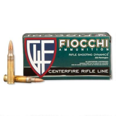 Fiocchi Shooting Dynamics .223 Remington Ammunition 55 Grain FMJ Boat Tail Projectile 3240 50rd