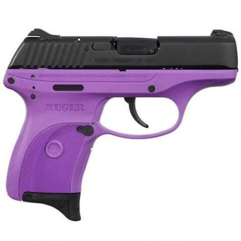 """Ruger LC380 Semi Auto Pistol .380 ACP 3.12"""" Barrel 7 Rounds Purple Polymer Frame Blued Finish LC380PG"""