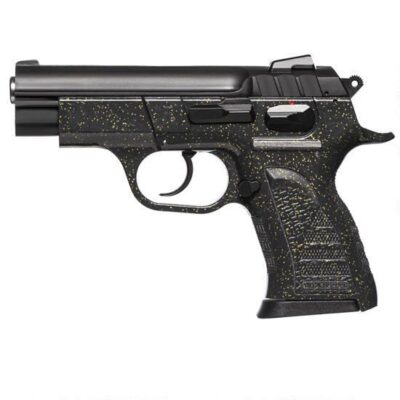 "EAA Witness Pavona Compact Semi Automatic Pistol 9mm Luger 3.6"" Barrel 13 Rounds Polymer Black Frame with Silver Sparkles 999401"