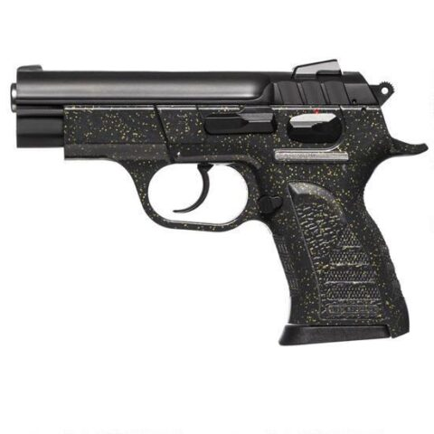 """EAA Witness Pavona Compact Semi Automatic Pistol 9mm Luger 3.6"""" Barrel 13 Rounds Polymer Black Frame with Silver Sparkles 999401"""