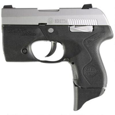 "Beretta Pico .380 ACP Semi-Auto Pistol w/ Light, 2.7"" Barrel, 6 Rounds, Black Polymer Frame, Inox Stainless Steel Slide"