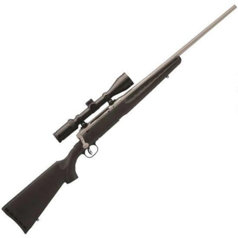 "Savage AXIS II Xp Bolt Action Rifle .25-06 Rem 22"" Barrel 4 Rounds AccuTrigger Weaver Kaspa 3-9x40 Scope Black Synthetic Stock Stainless Finish 22546"