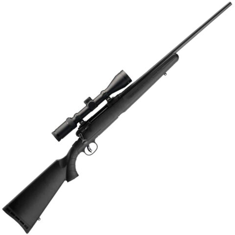 Savage Arms Axis II XP Bolt Action Rifle 6.5 Creedmoor 22″ Barrel 4 Round Detachable Box Magazine Adjustable AccuTrigger 3-9×40 Scope Mounted/Bore-sighted Matte Black Finish