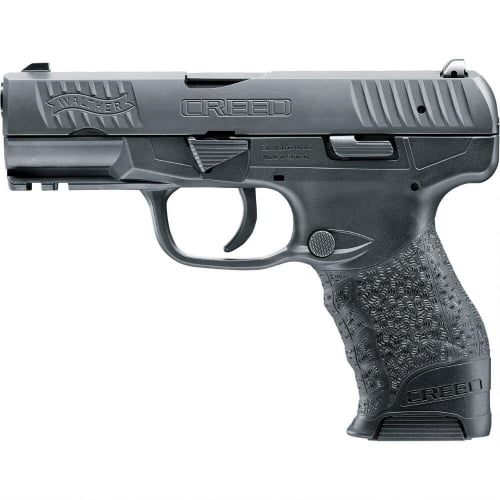 Walther Arms Creed 9mm 4 16+1 Black Grip Blk