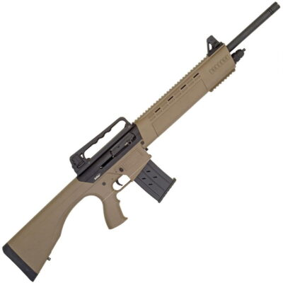 "Tristar KRX Tactical Semi Auto Shotgun 12 Gauge 20"" Barrel 5 Rounds Carry Handle Rear Sight with FO Front Sight Fixed Polymer Stock FDE"