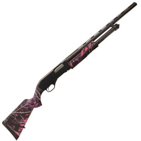 "Savage Arms Stevens 320 Youth Pump Shotgun 20 Gauge 3"" Chamber 22"" Barrel Synthetic Stock Muddy Girl 22561"