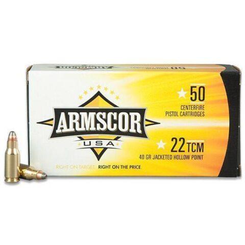 Armscor USA 22 TCM 40 Grain JHP 50 Round Box (Not .22LR)