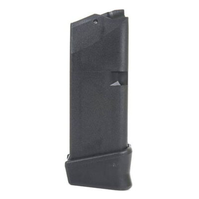 GLOCK 27 Magazine w/ Extended Base, .40 S&W, 10 Rounds, Polymer, Black, Finger Extension