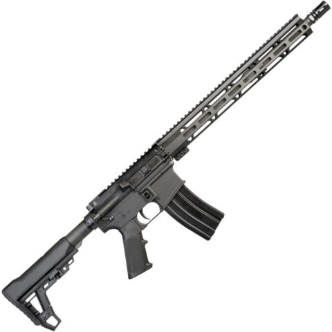 "I.O. Inc. M215-ML15 AR-15 Semi Auto Rifle 5.56 NATO 16"" Barrel 30 Rounds 15"" M-LOK Handguard Collapsible Stock Black Finish"
