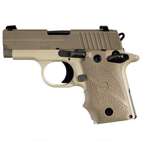 "SIG Sauer P238 Desert Semi Automatic Pistol .380 ACP 2.7"" Barrel 6 Rounds Hogue Rubber Grips Desert Tan Finish 238-380-DES"