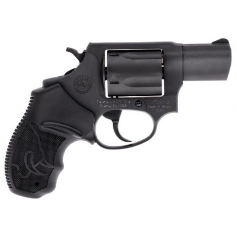Taurus 605 Double Action Revolver .357 Magnum 2″ Barrel 5 Rounds Fixed Front Sight/Fixed Rear Sight Soft Rubber Grips Matte Black Finish