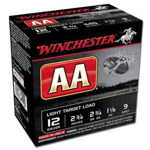 "Winchester AA Light 12 Ga 2.75"" #9 Lead 1.125 oz 25 rds"