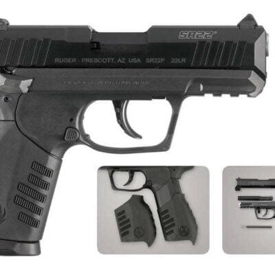 Ruger SR22 22LR Rimfire Pistol with 3 Magazines