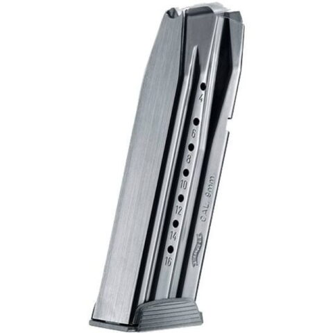 Walther Creed Pistol Magazine 9mm Luger 16 Rounds Steel/Polymer Black