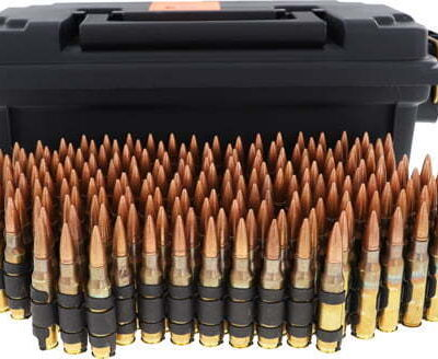 HSM AMMO .308 WIN 147GR. FMJ LINKED TRACER 40% 200RDS CAN