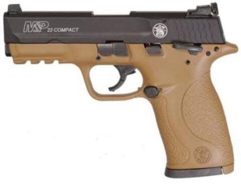 "Smith & Wesson M&P22 Compact AI FDE .22 LR 10rd 3.6"" Pistol 12393"
