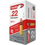 Aguila Interceptor HV .22 LR Ammunition 50 Rounds 40 Grain CP SP 1470fps