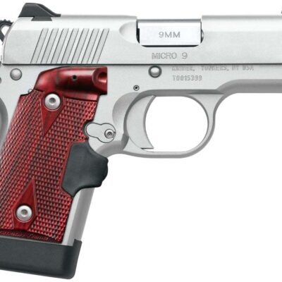 Kimber Micro 9 Stainless 9mm with Rosewood Crimson Trace Lasergrips and Green Fiber Optic Front Sight