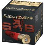 Sellier & Bellot Spherical Bullet .410 Bore Ammunition 25 Rounds 2-1/2″ 000 Buck 3 Pellets 1247 fps