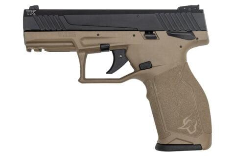 Taurus TX22 22LR Rimfire Pistol with FDE Frame and Black Slide