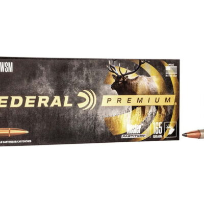Federal Premium 300 Win Short Mag Nosler Partition 165gr, 20/Box