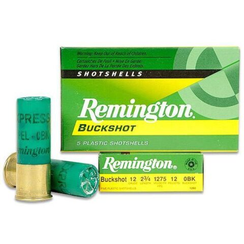 "Remington Express 12 Gauge 2.75"" #0 Buck 5 Round Box"