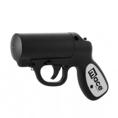 Mace Pepper Gun with Strobe LED Black