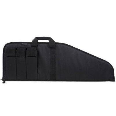 "Bulldog Cases Pit Bull Tactical Case 38"" Nylon Soft Padding Extra Magazine Pouches Velcro Flaps Floats Black BD499-38"