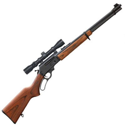 "Marlin 336W Lever Action Rifle .30-30 Win 20"" Barrel 6 Rounds Laminate Stock Matte Blued Mounted Scope 70521"