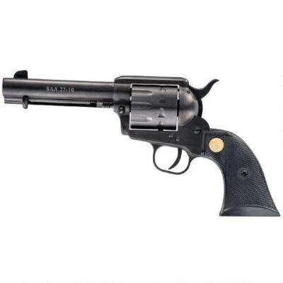"Chiappa Firearms 1873 SAA 22-10 Single Action Revolver .22LR 4.75"" Barrel Synthetic Grips Black Finish CF340.155"