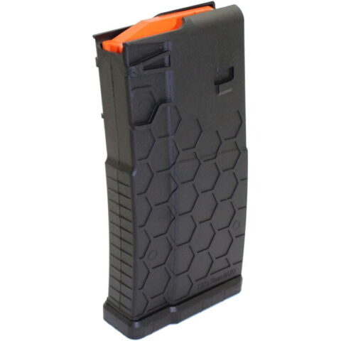 Hexmag AR-10A/SR-25/DPMS LR-308 Pattern Magazine .308 Winchester 20 Rounds Polymer Black