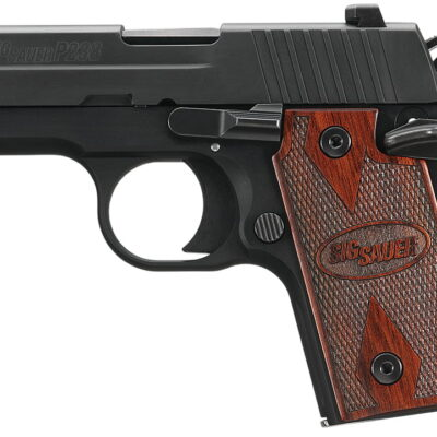 Sig P238 380 ACP 2.7In Rosewood Black SAO Siglite Rosewood Grip (1) 6RD Steel MAG MA Compliant