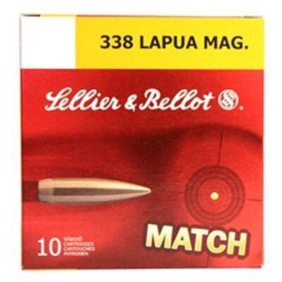 Sellier & Bellot .338 Lapua Magnum Ammunition 10 Rounds 250 Grain JBTHP 2868fps