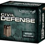 Liberty Ammo Civil Defense .40S&W 60gr, LF Fragmenting HP, 20rd/Box
