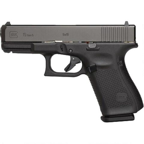"GLOCK G19 Gen 5 9mm Luger Semi Auto Handgun 4.02"" Barrel 15 Rounds Interchangeable Backstraps Polymer Frame Black"
