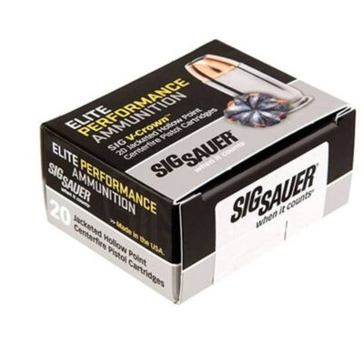 SIG Sauer .45 Colt Ammunition 20 Rounds, V-Crown JHP, 230 Grains
