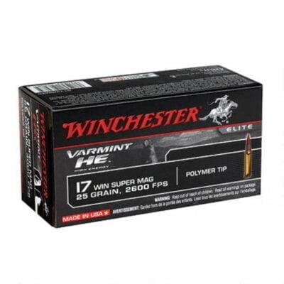 Winchester Varmint HE .17 WSM Ammunition 50 Rounds, PT, 25 Grain