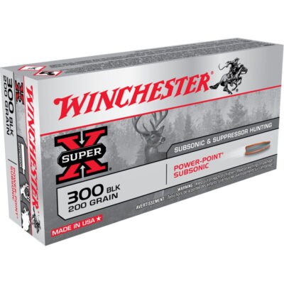 Winchester Super X Subsonic .300 Blackout Ammunition 20 Rounds JHP 200 Grains X300BLKX