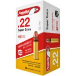 Aguila Super Extra HV .22 Long Rifle Ammunition 50 Rounds 40 Grain Copper Plated Solid Point 1255fps
