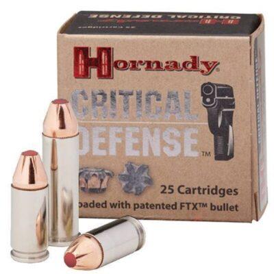 Hornady Critical Defense .357 Magnum Ammunition 25 Rounds FTX HP 125 Grains 90500